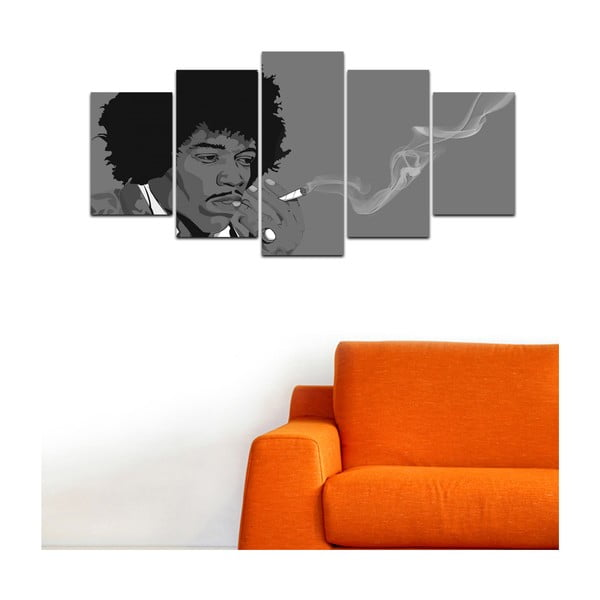 Wieloczęściowy obraz Black&White no. 29, 100x50 cm