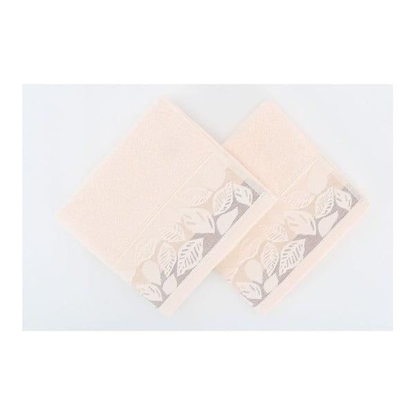 Zestaw 2 ręczników Floras Pink, 50x90 cm