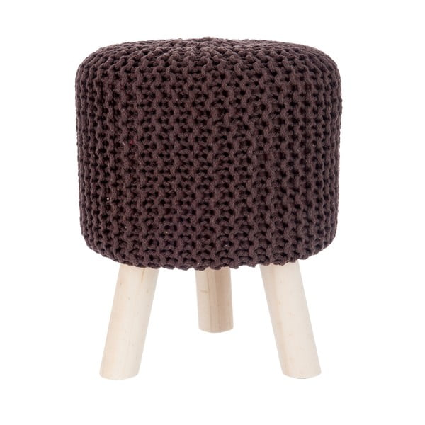 Taboret Knitted Brown