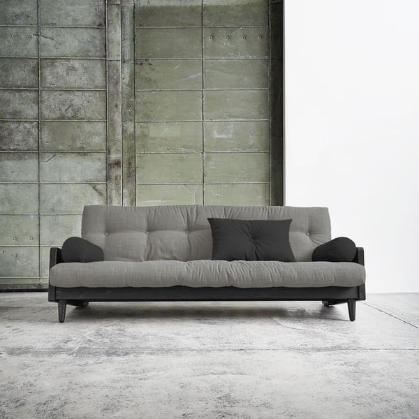 Sofa rozkładana Karup Indie Black/Granite Grey/Dark Grey
