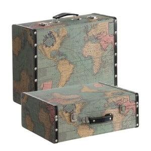 Zestaw 2 walizek Cosas de Casa Mapa świata