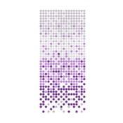 Zasłona prysznicowa White&Purple Dotted