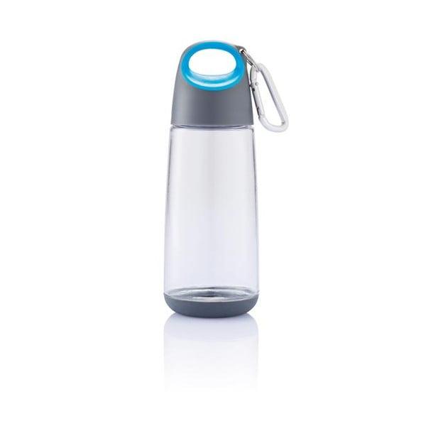 Niebieska butelka z karabińczykiem XD Design Mini Bopp