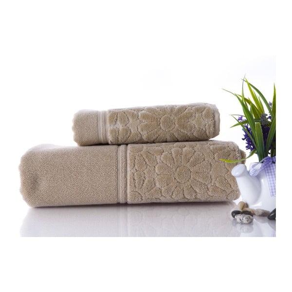 Zestaw 2 ręczników Samba Beige, 70x140 cm i 50x90 cm