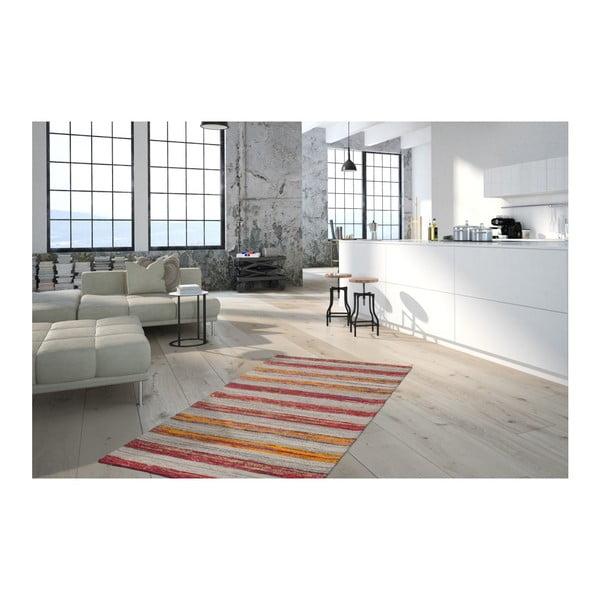 Czerwono-pomarańczowy dywan Evita, 160x230cm