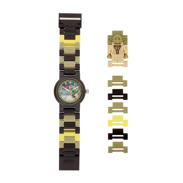 Khaki zegarek z figurką LEGO® Star Wars Yoda