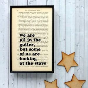 Plakat w   drewnianej ramie Oscar Wilde Stars