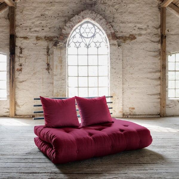 Sofa rozkładana Karup Shin Sano Black/Bordeaux