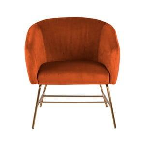 Pomarańczowy fotel Actona Ramsey