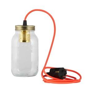 Lampa JamJar Lights, jaskrawy różowy okrągły kabel