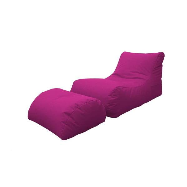 Fotel z podnóżkiem Sofia Pink