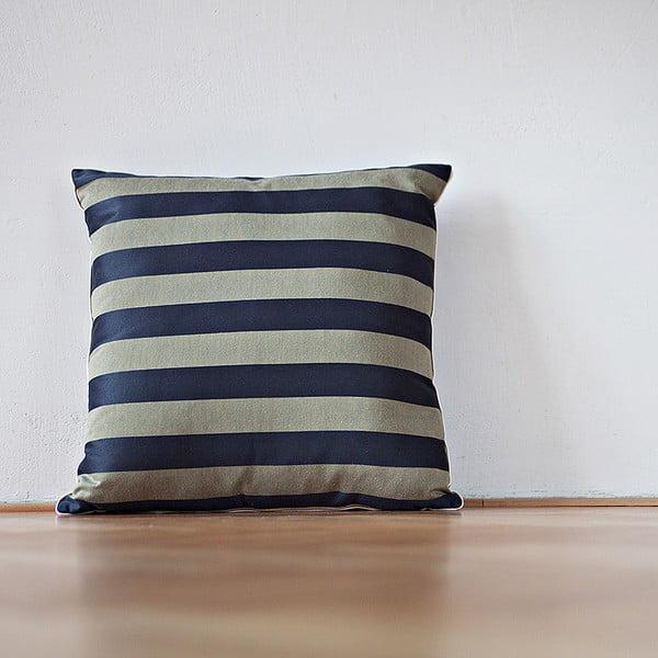 Poduszka z wypełnieniem Dark Blue Stripes, 50x50 cm