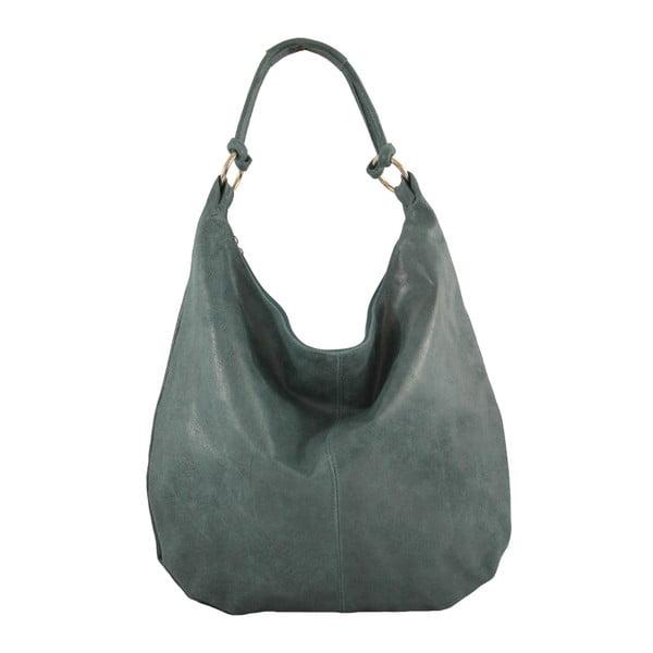 Granatowa skórzana torebka Francesca
