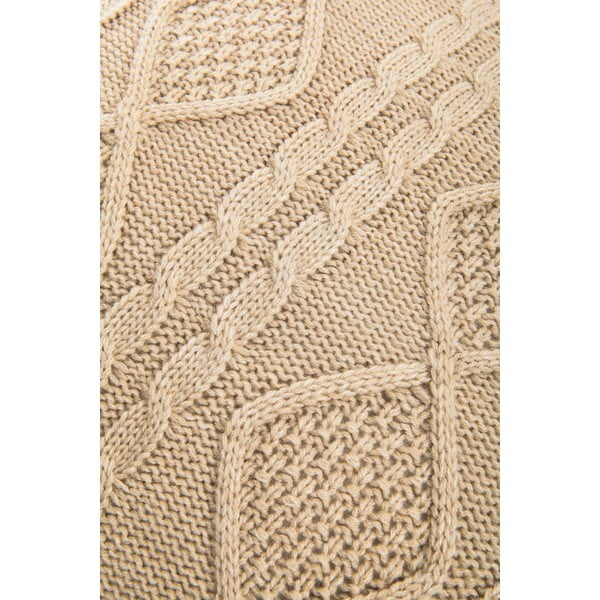 Pleciona poszewka na poduszkę Kosem Beige, 43x43 cm