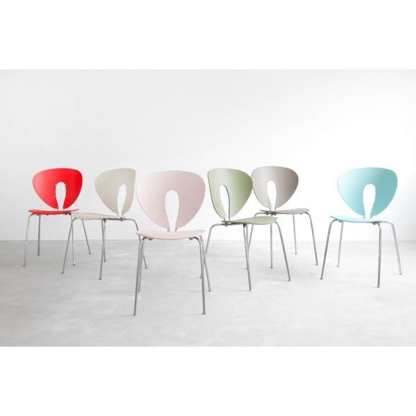 Krzesło Globus, białe/odblaskowe nogi