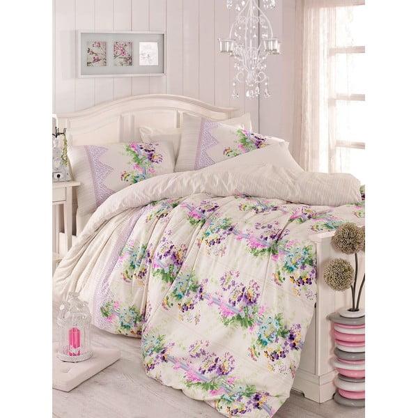 Fioletowa pościel na łóżko jednoosobowe Love Colors Sarah, 160 x 220 cm
