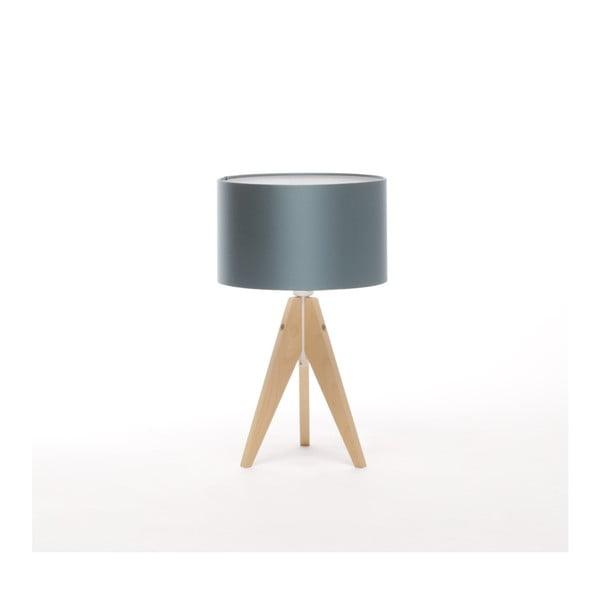 Niebieska lampa stołowa 4room Artist, brzoza, Ø 25 cm