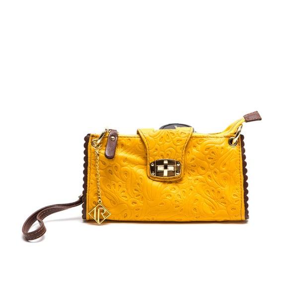 Skórzana kopertówka Isabella Rhea 2024, żółta