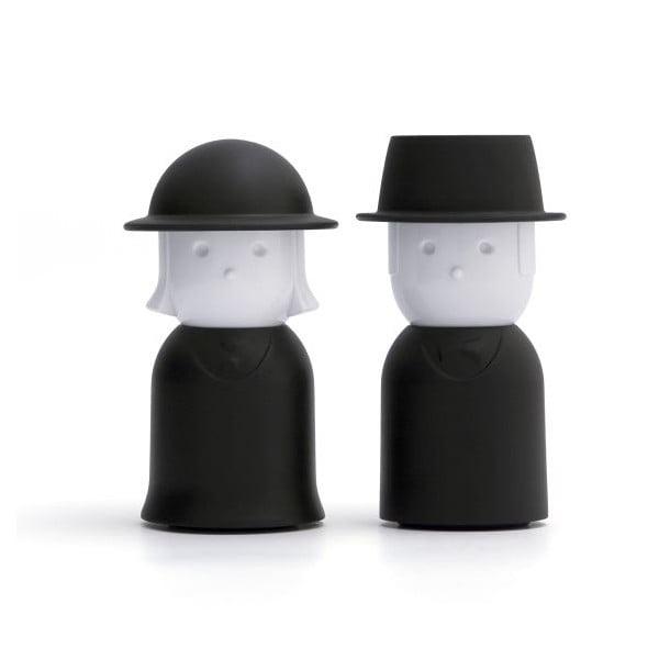 Solniczka i pieprzniczka QUALY Mr.Pepper & Mrs. Salt, czarne