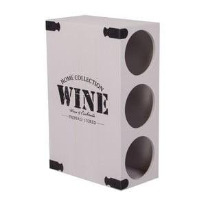 Biały stojak na 3 butelki wina Wine