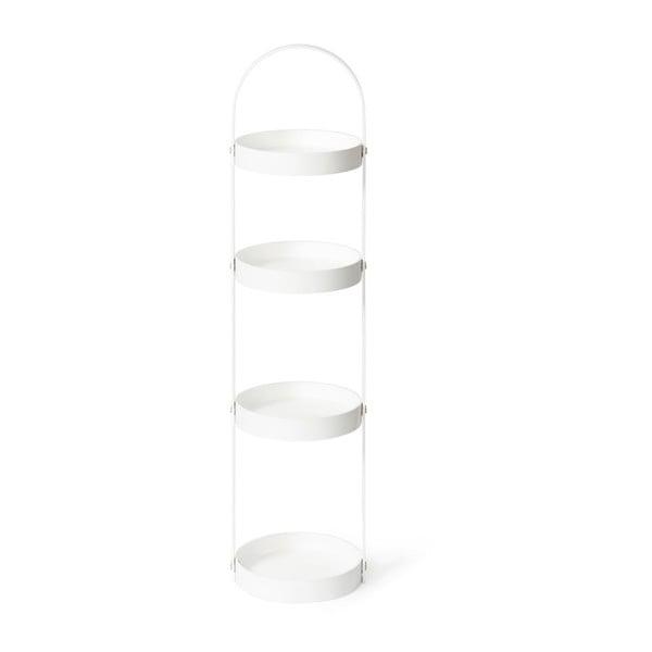 Biały stojak/szafka łazienkowa Wireworks Mezza, 4 półki