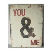 Blaszana tablica You&Me 26x35 cm