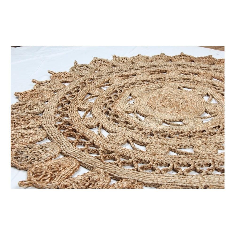 Okrągły dywan z juty Eco Rugs Jamelia, Ø 120 cm