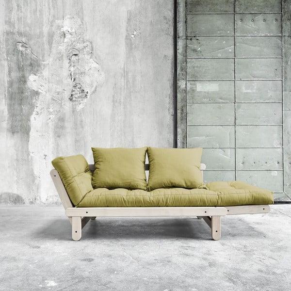Sofa rozkładana Beat Beech/Avocado Green