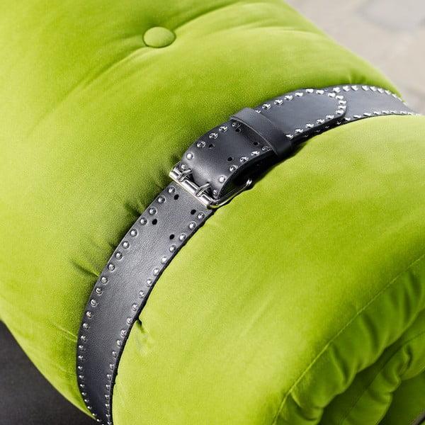 Fotel rozkładany Karup Buckle Up Black/Lime