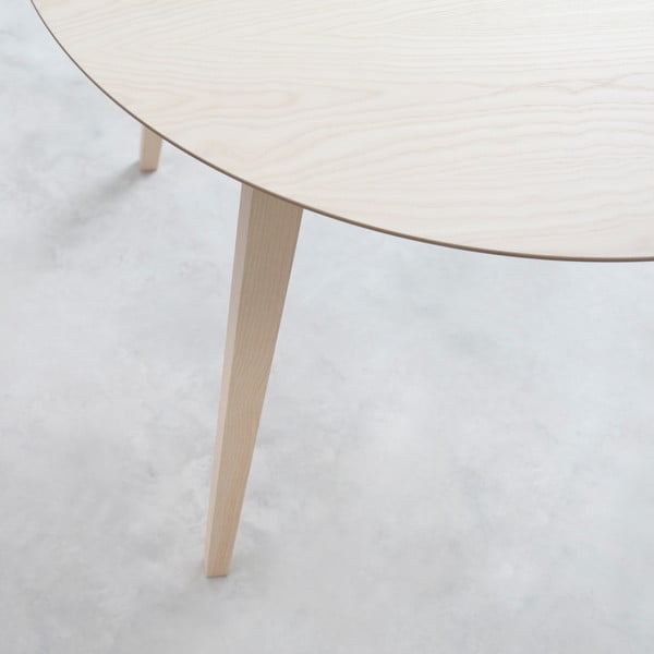 Stół Lau 90 cm, naturalny jesion