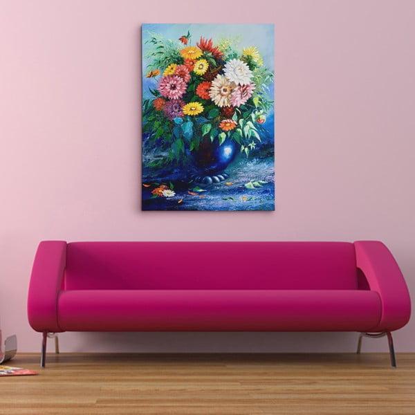 """Obraz na płótnie """"Wazon z kwiatami"""", 50x70 cm"""