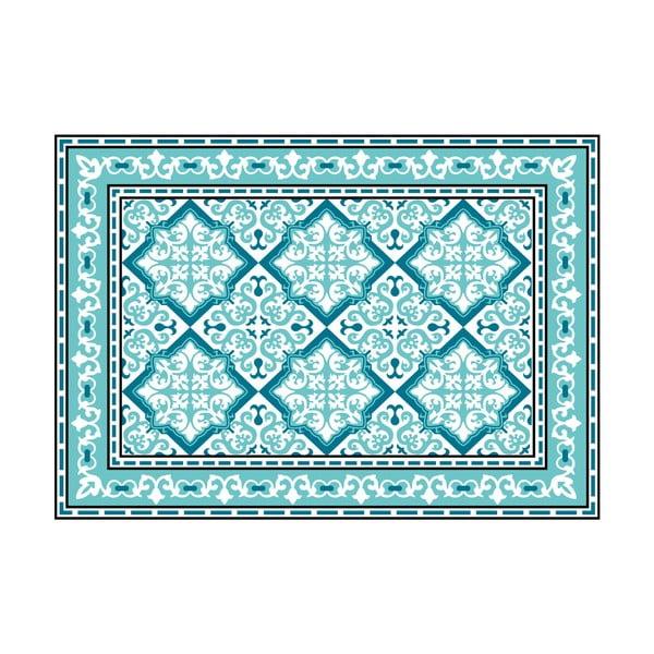 Wytrzymały dywan winylowy Turquoise Geometric 120x170 cm
