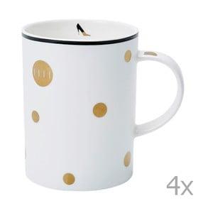 Zestaw 4 kubków Elle Spécial Polka Dot