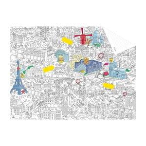 Kieszonkowa mapa-kolorowanka Paris
