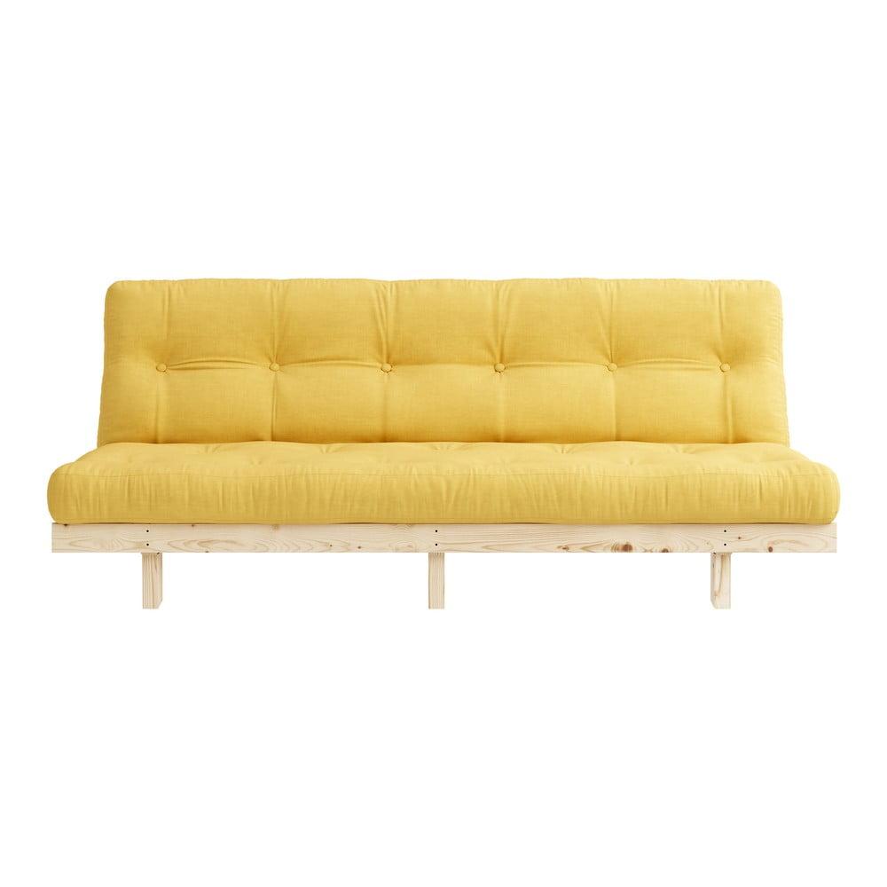Sofa rozkładana Karup Design Lean Raw Yellow