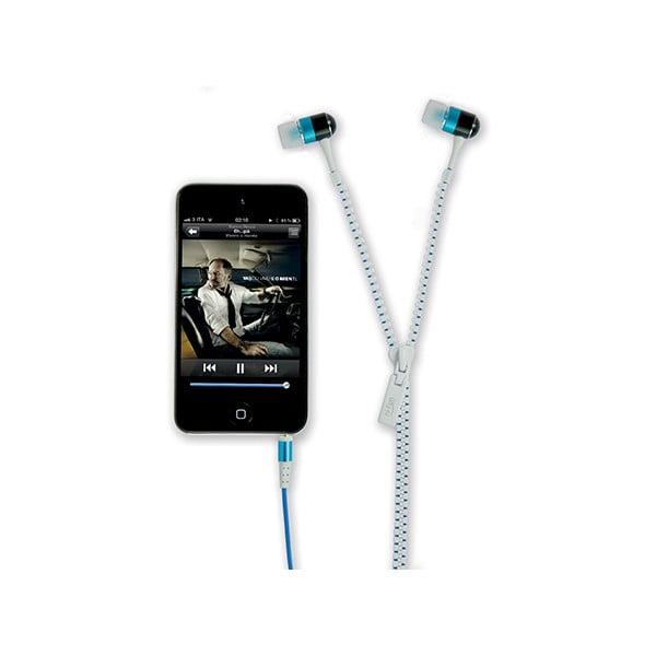 Słuchawki hi-Zip, białe/niebieskie