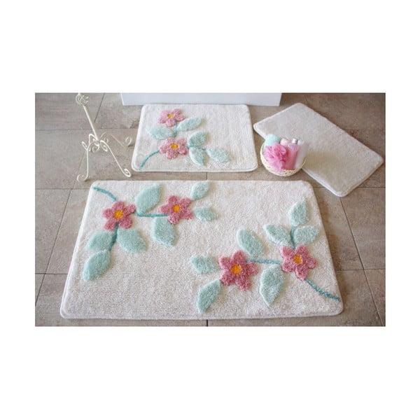 Zestaw 3 białych dywaników łazienkowych Alessia Bonita