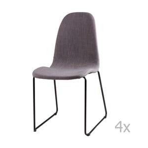 Zestaw 4 jasnoszarych krzeseł sømcasa Helena