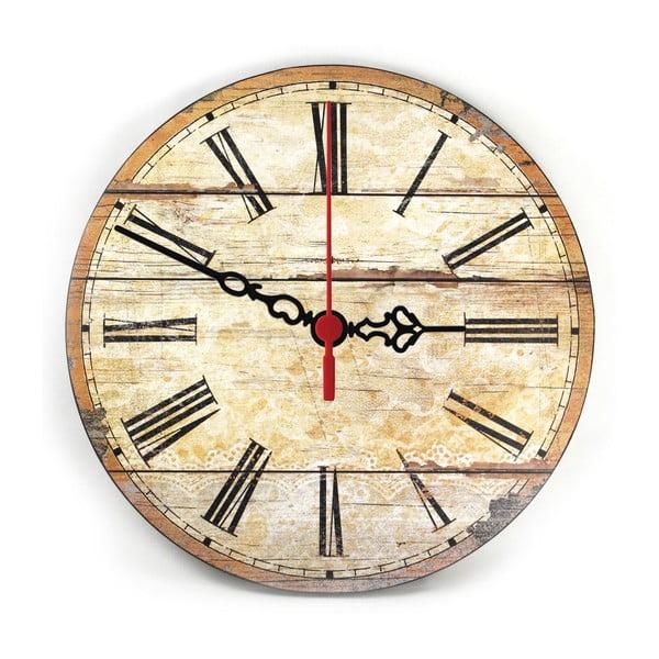 Zegar ścienny Retro Wood, 30 cm