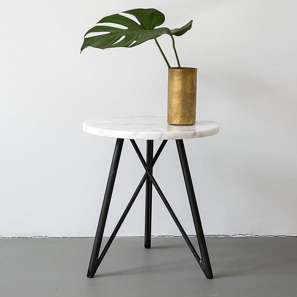 Stolik NUTSANDWOODS Marble, średnica 45 cm