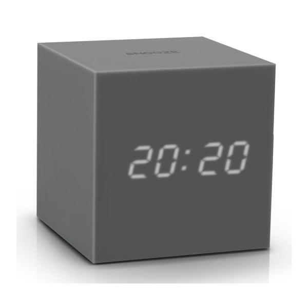 Ciemnoszary budzik LED Gingko Gravitry Cube
