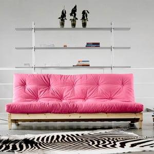 Sofa rozkładana Karup Fresh Natural/Magenta