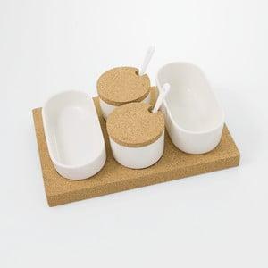 Półmiski z korkową tacą Cork, 30x20 cm