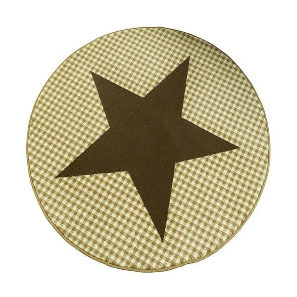 Dywan City & Mix - brązowa gwiazda, 140 cm
