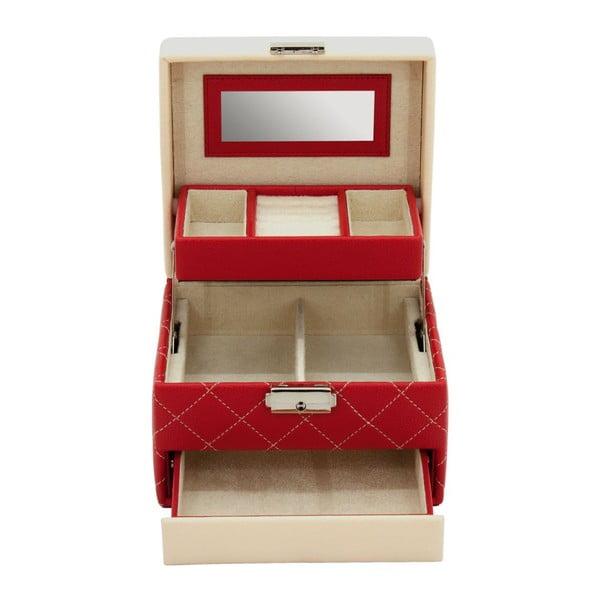 Czerwona szkatułka Friedrich Lederwaren Diana