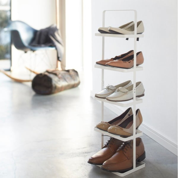 Biała półka na buty Yamazaki Tower Shoe Rack