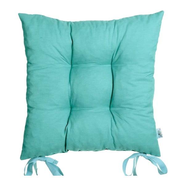 Poduszka na krzesło Carli, turkusowa