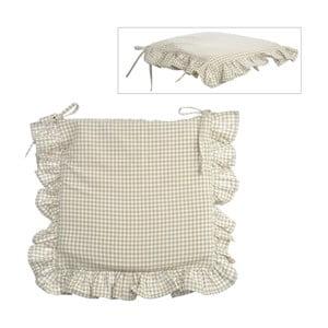 Poduszka na krzesło Vichy Beige, 40x40 cm