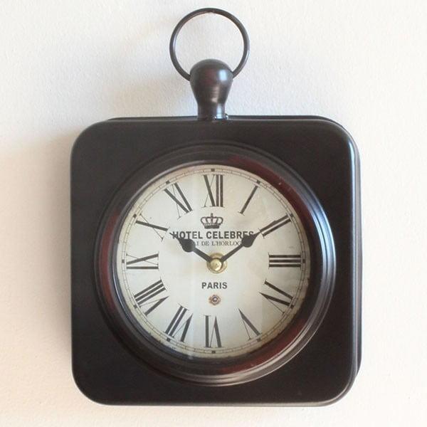 Metalowy zegar Hotel Celebres, 19x28 cm