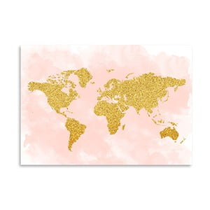 Plakat Americanflat World Glitter, 30x42 cm